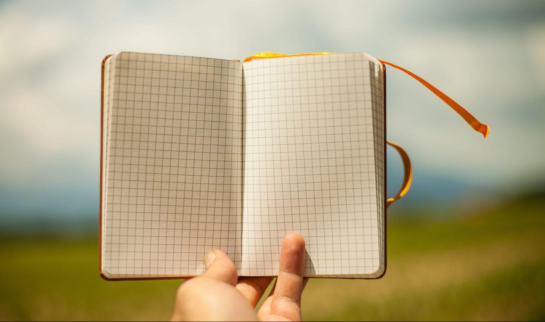empty open notebook cc0