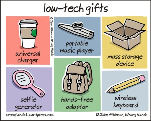 low tech gifts-john atkinson