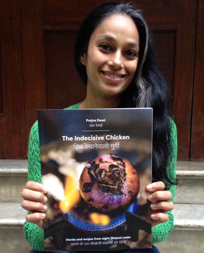 Prajna, the author, with the book. Photo by Aneesha Chopra.