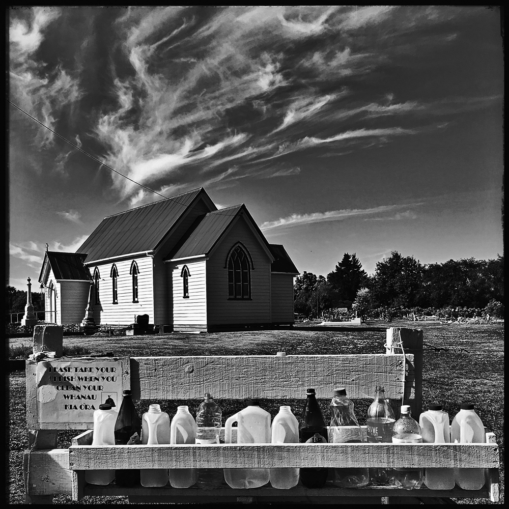 The Māori cemetery of the Church of St. John at Omahu in Hawkes Bay, New Zealand. Photo by Doublewhirler.