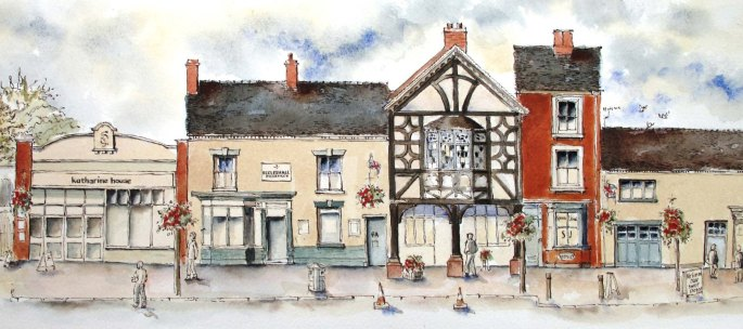 High Street, Eccleshall by Ronnie Cruwys.