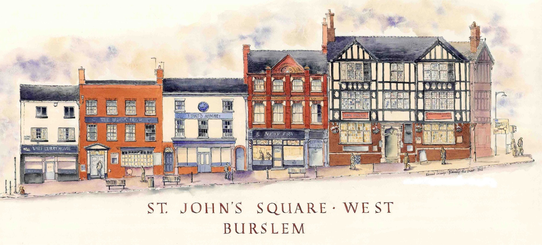St. John's Square West in Burslem, Staffordshire, England. By Ronnie Cruwys.