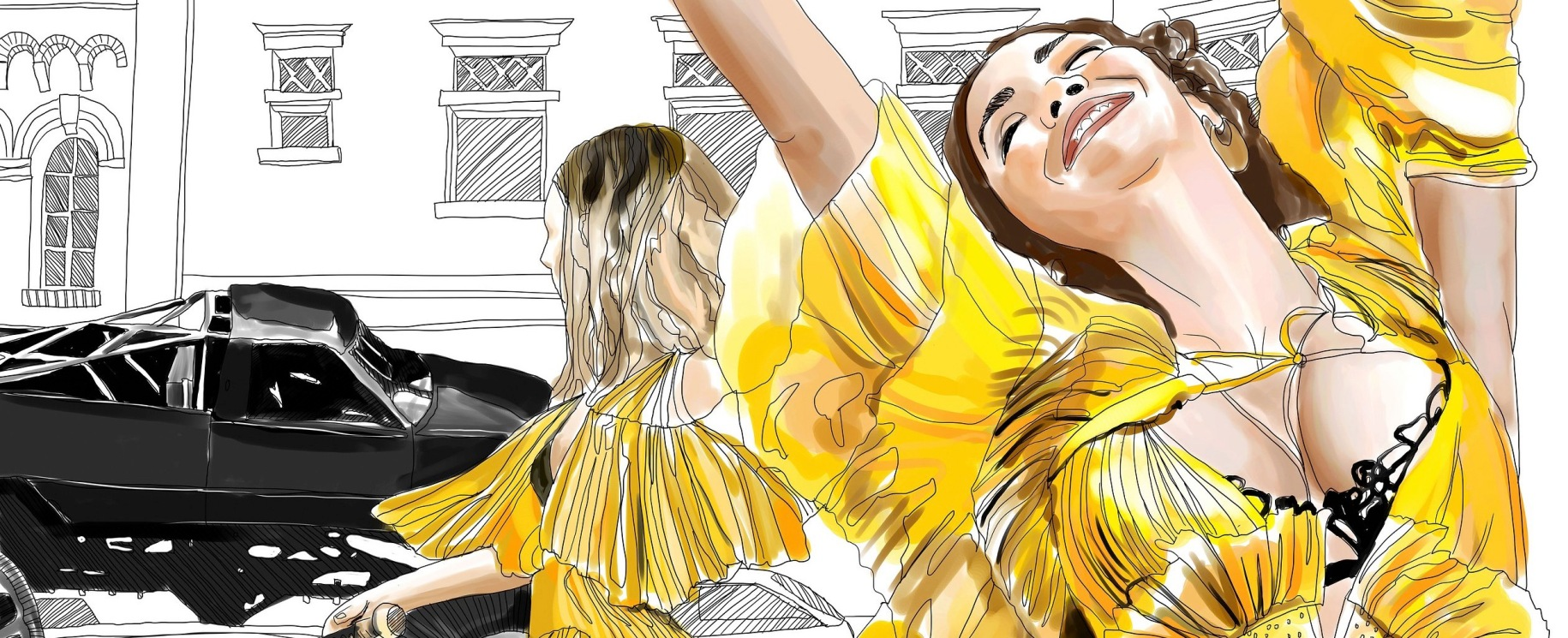From #colormelemonade -- five illustrated scenes from Beyoncé's visual album, Lemonade. The images are available to download and color.