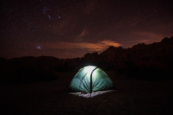 Camping at Joshua Tree National Park and Indian Cove Campground.