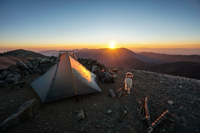 Mt. Baldy Summit camping for the summer solstice, June 2015.