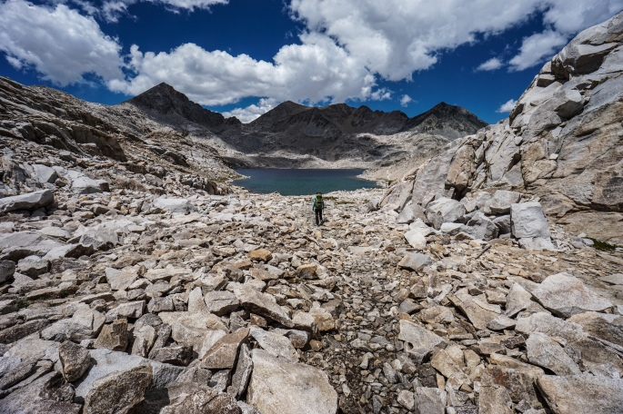 On the John Muir Trail: Colby Meadow to Grouse Meadows.