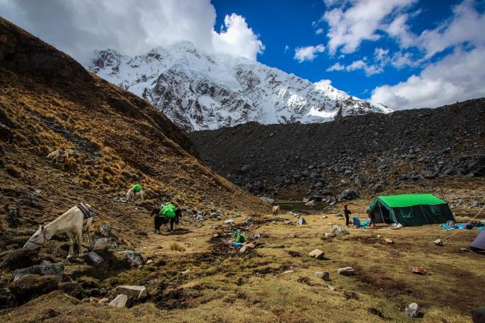 Salkantay Trek to Machu Picchu: lunch spot, day 1.
