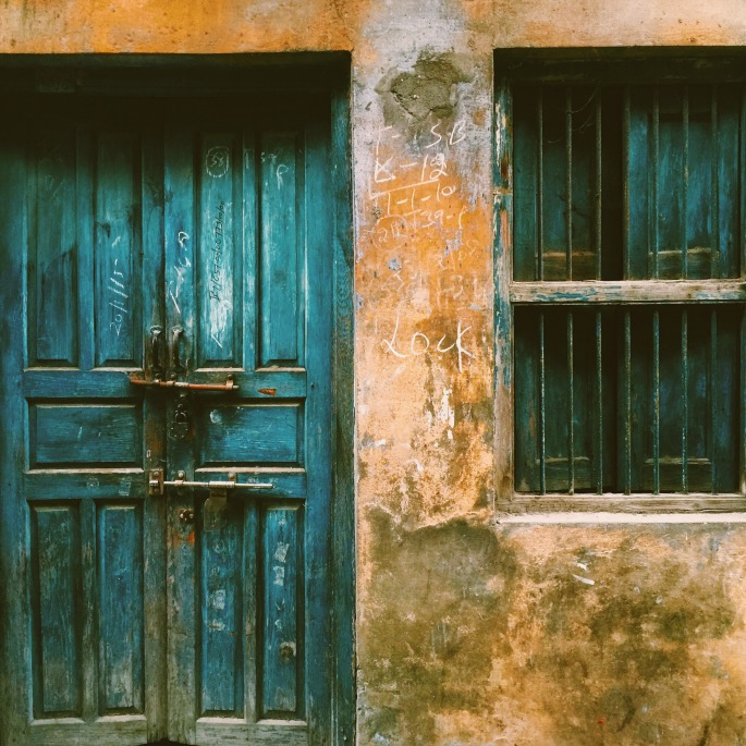 A door in a rural Punjab prepartition home.
