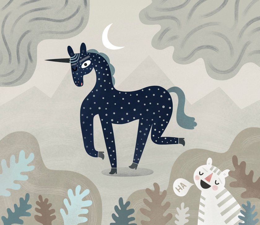 """HHe spotted the spotted unicorn."""""""