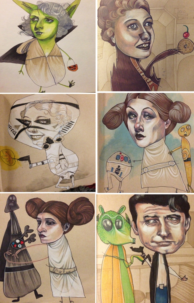 Later collaborations, including Star Wars characters.