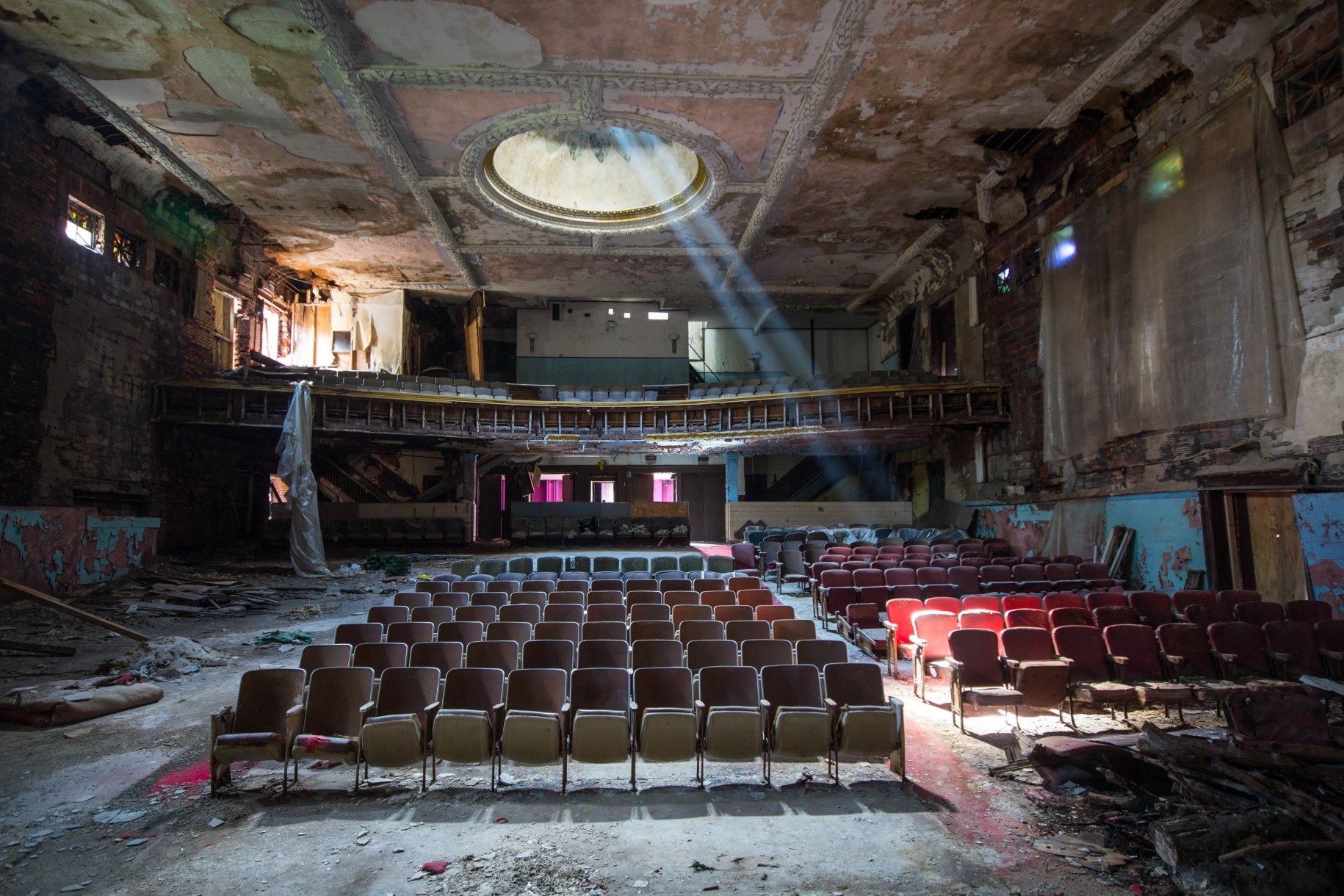 The Sattler / Broadway Theater in Buffalo, NY. Image by Liz at Peeling Walls.