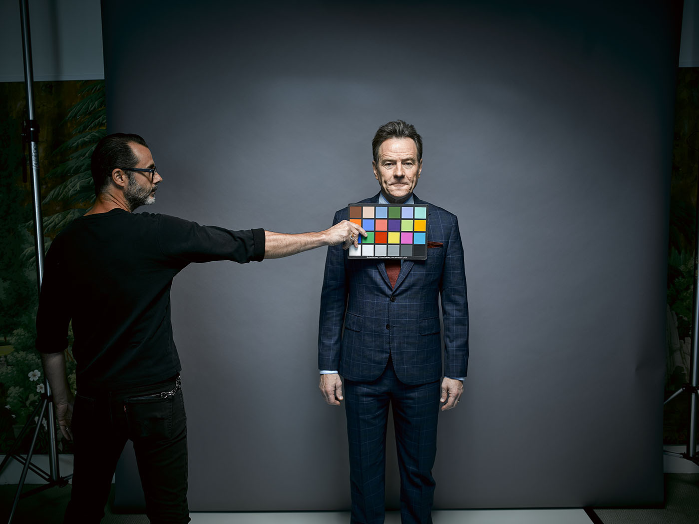 Behind-the-scenes snapshot of actor Bryan Cranston. Photo by Brad Trent at Damn Ugly Photography.
