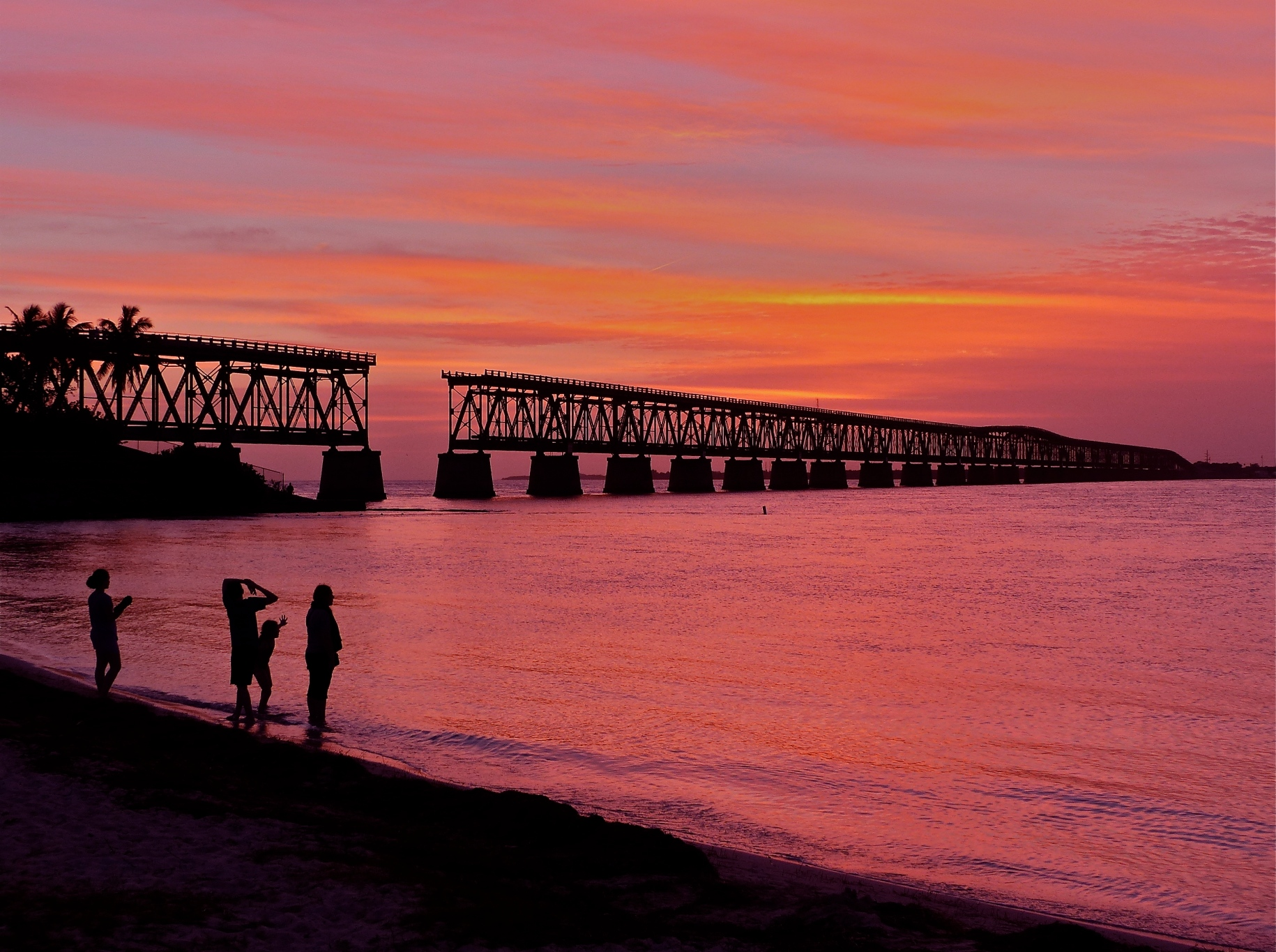 Wanderlust calls. Image of the Bahia Honda Rail Bridge in Florida, courtesy of Paint Your Landscape.