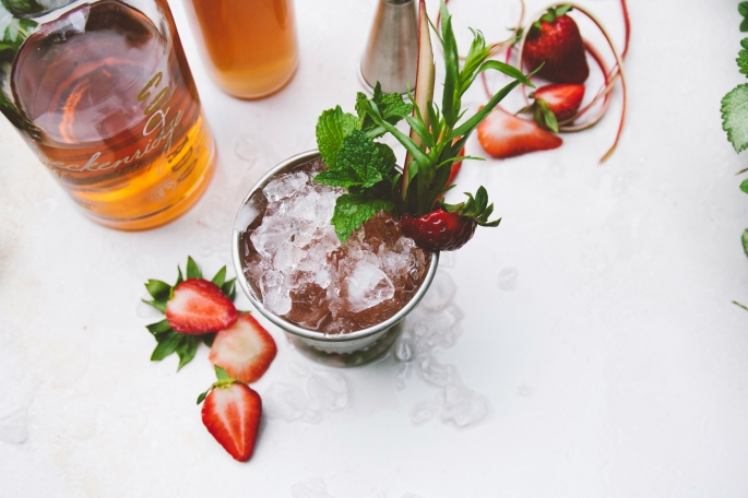Strawberry rhubarb mint julep, from holly & flora.