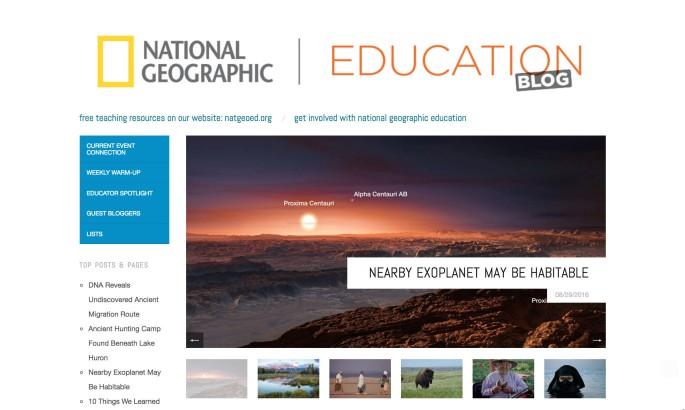 nat geo homepage