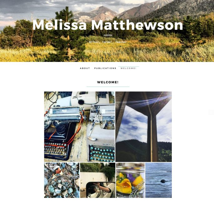 Building an Online Home: Essayist Melissa Matthewson's Simple and Effective Front Page
