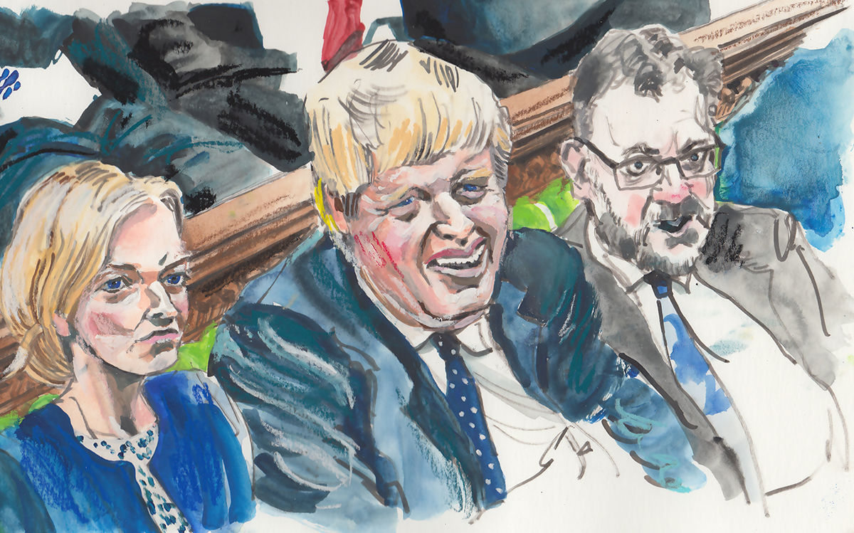 Boris Under Fire by Russell.