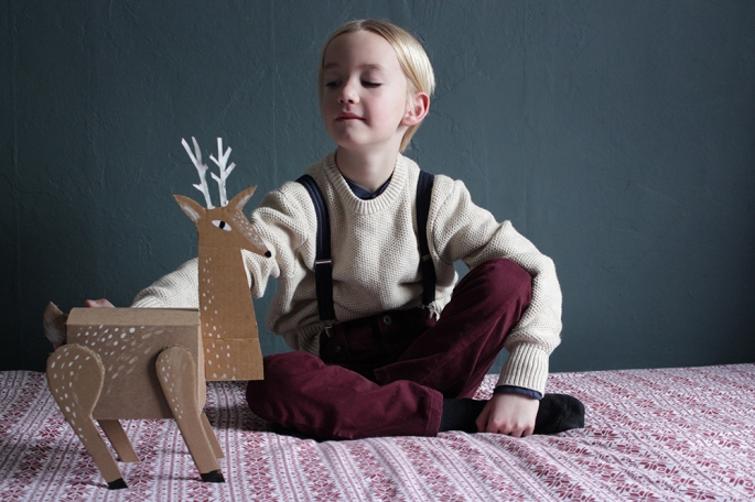 A DIY reindeer gift box from Mer Mag.
