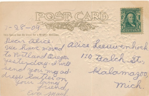 Finding neighbors and friends of ancestors through old postcards. Image via The Family Kalamazoo.