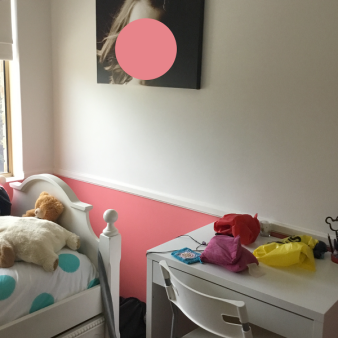 A teenager's bedroom, before.