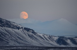 A supermoon over Iceland, from Where Am I Now?