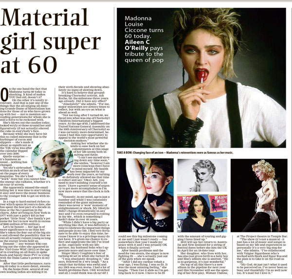 all about Madonna