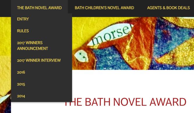 bath novel award main menu