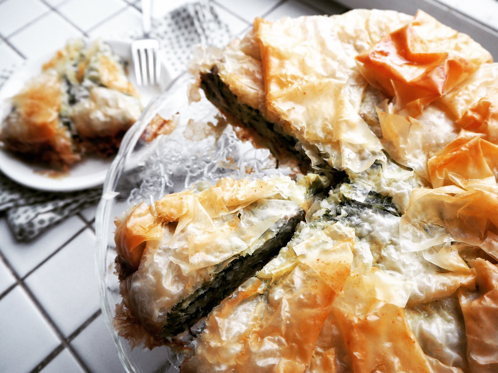 Phyllo Pie With Fennel, Mushroom, Rice, and Leeks