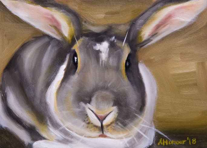 painting of a rabbit