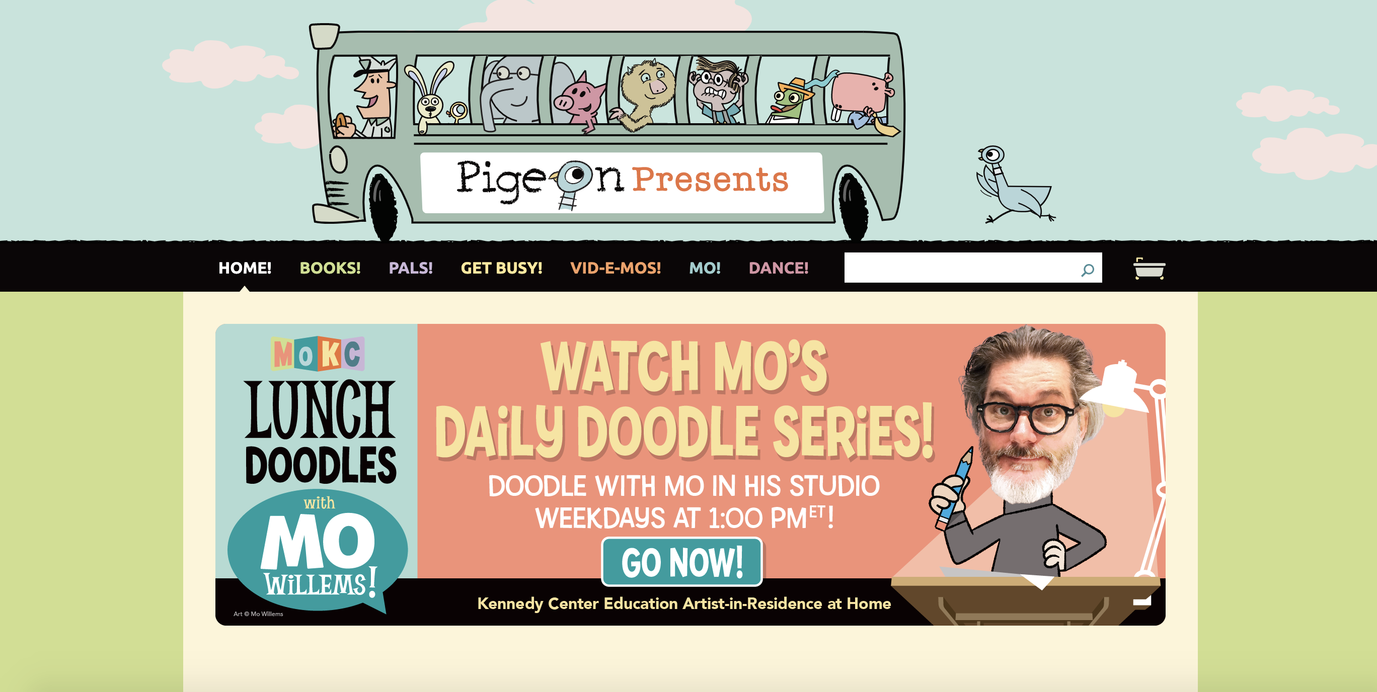 Pigeon Presents: Illustrator Mo Willems