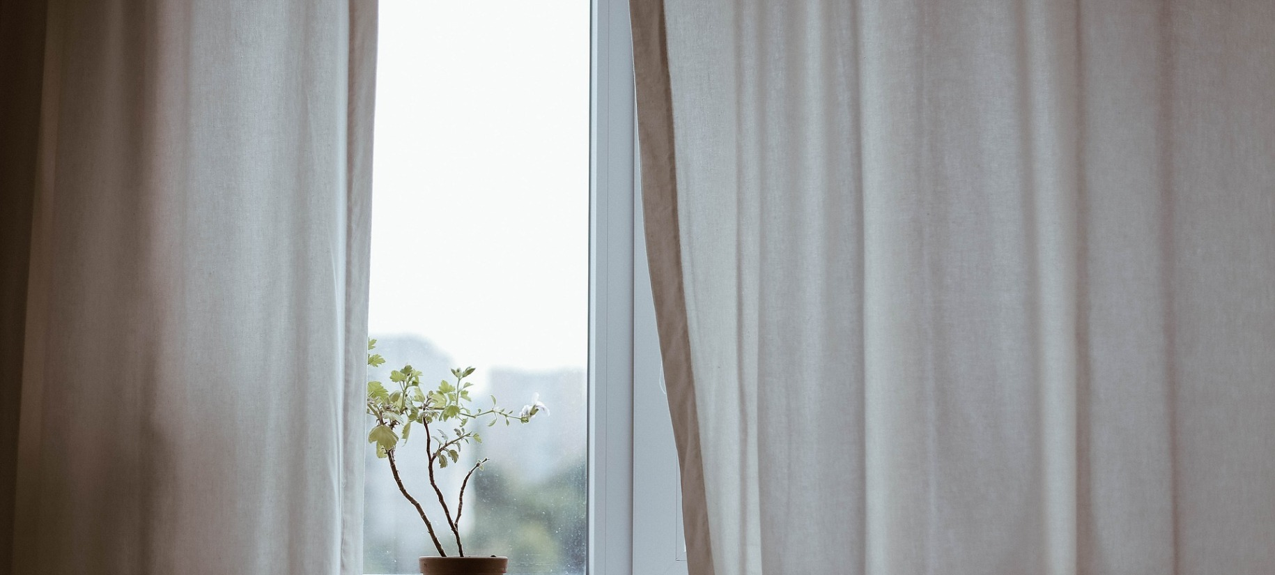 window curtains hidden