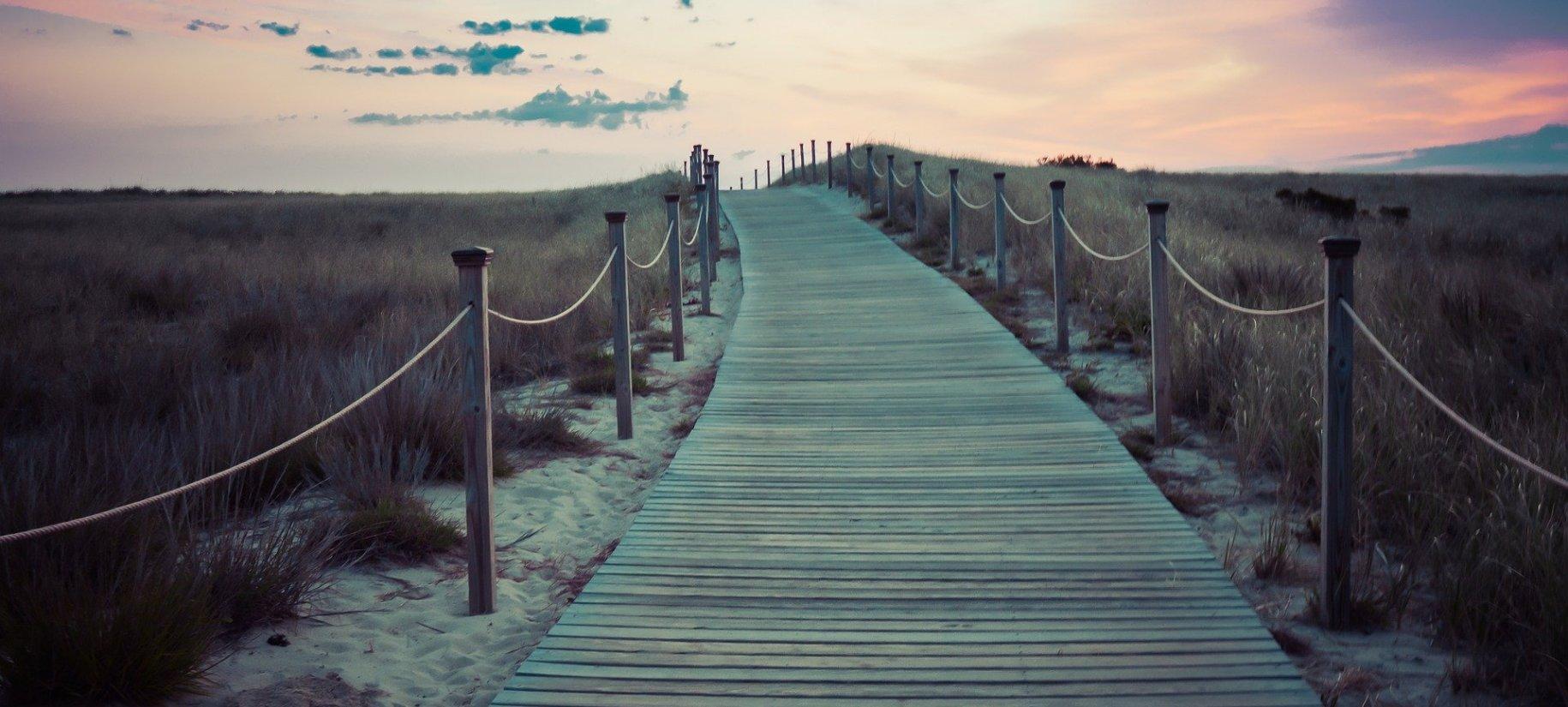 bridge path beach